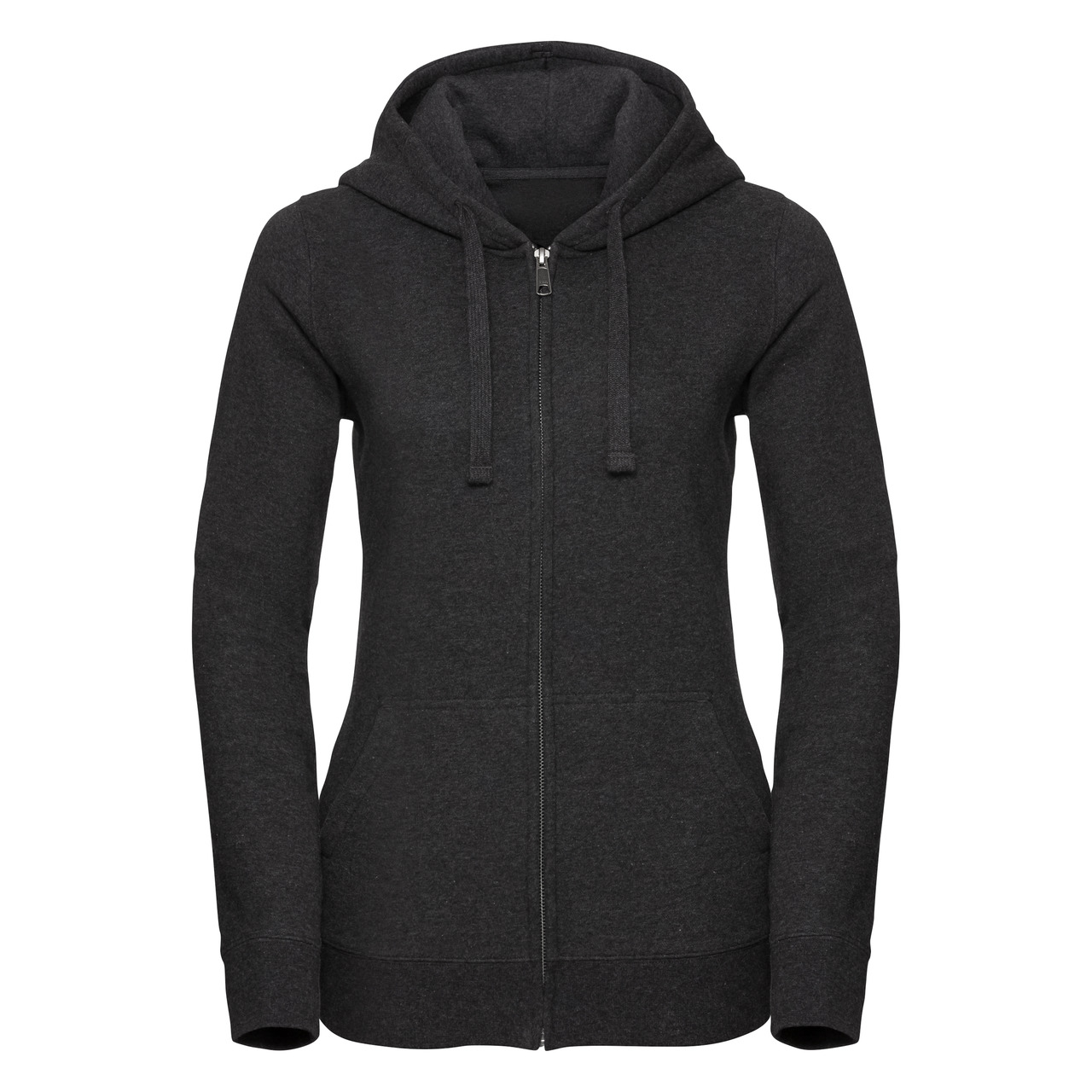 Damska bluza Authentic Melange Zipped Hooded Sweat | Russell