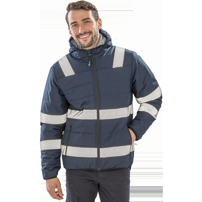 Ciepła kurtka z odblaskowymi pasami R500X Result
