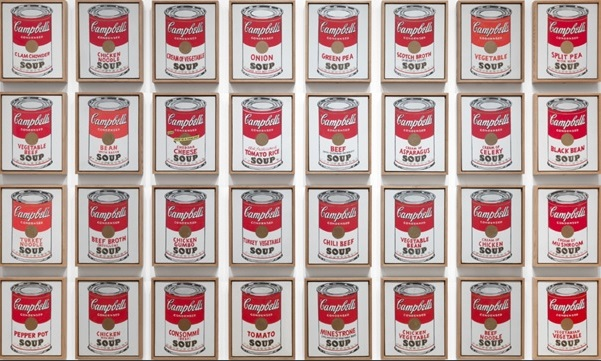 Andy Warhol - Campbells Soup Cans - 1962