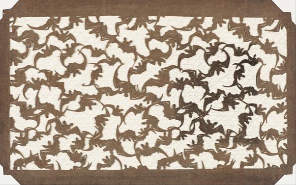Sitodruk katagami - papierowy szablon